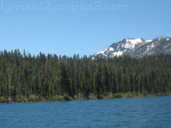 Lake Tahoe-Snow in June.