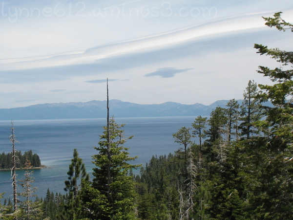 Looking out on Lake Tahoe.