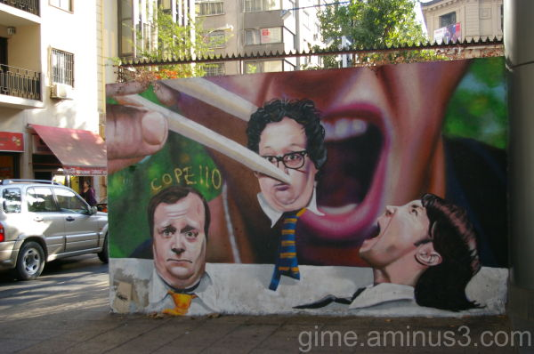 santiago de chile , mural