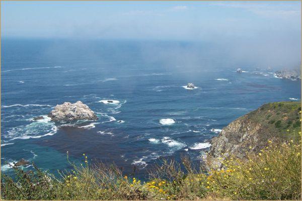 Fog off of Monterey Coast Hwy