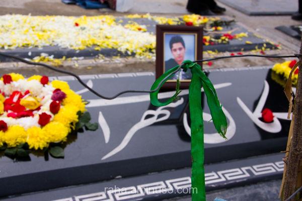 Tehran, Cemetery ,Ashkan Sohrabi's grave