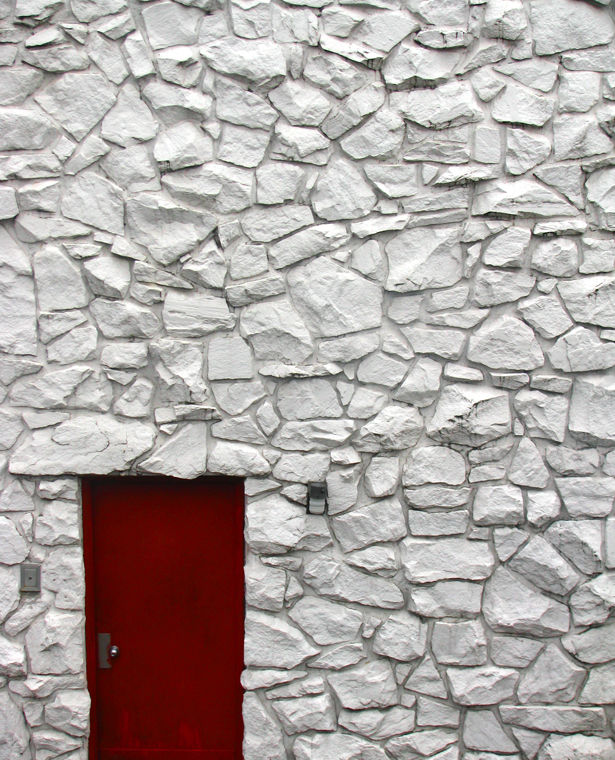 Red Door White Wall