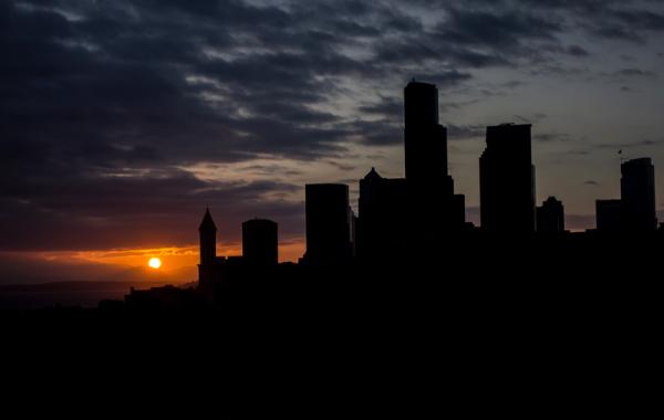 Seattle Sunset Silhouette