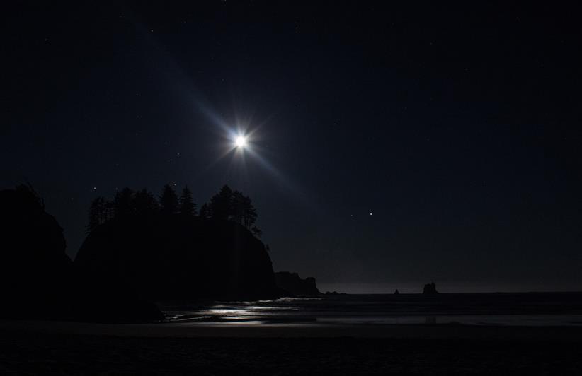 Moon on the Ocean