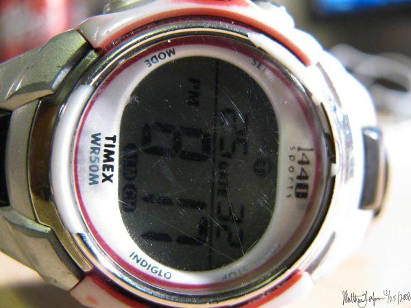 A close up of 8:17.