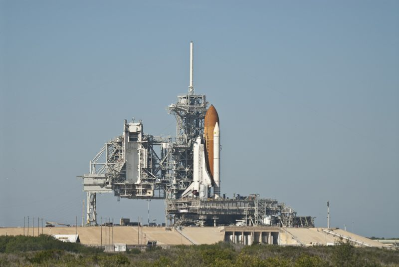 Discovery on the pad