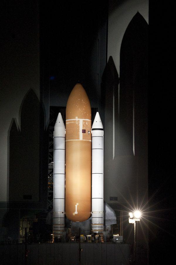 STS-134 Rollout - ET