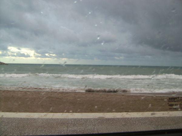 Lluvia sobrel el mar