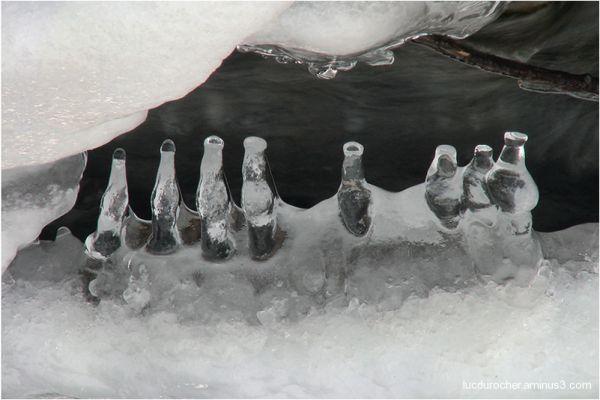 Bouteilles de glace