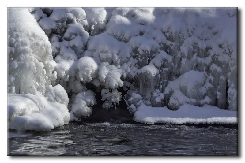 Cascade gelée