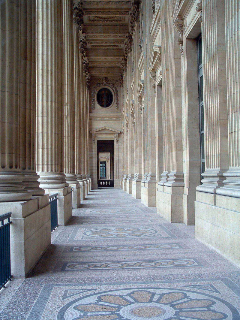 Pillars at the Louvre