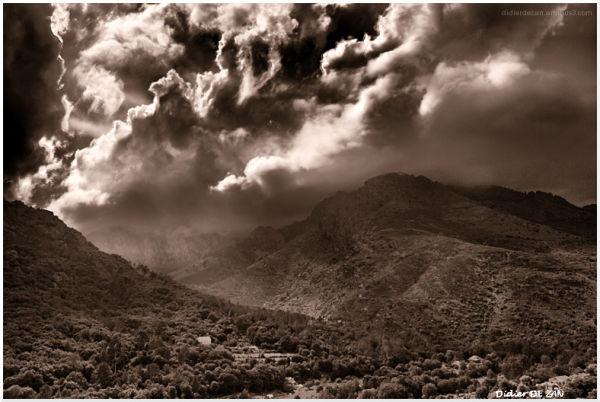 Dans les nuages ....