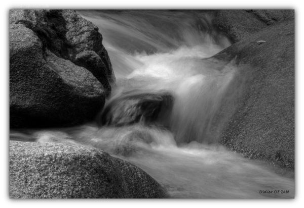 water on the rock....