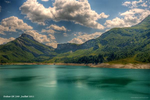 Le lac de Roselend ....