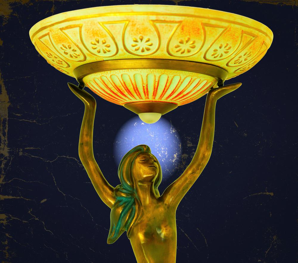 Bronze lamp