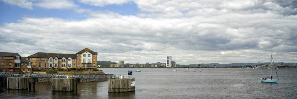 Cardiff Bay in Wales UK