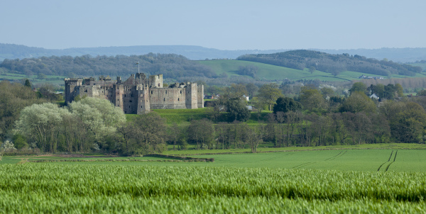 Ragland Castle on the English and Wales Borders