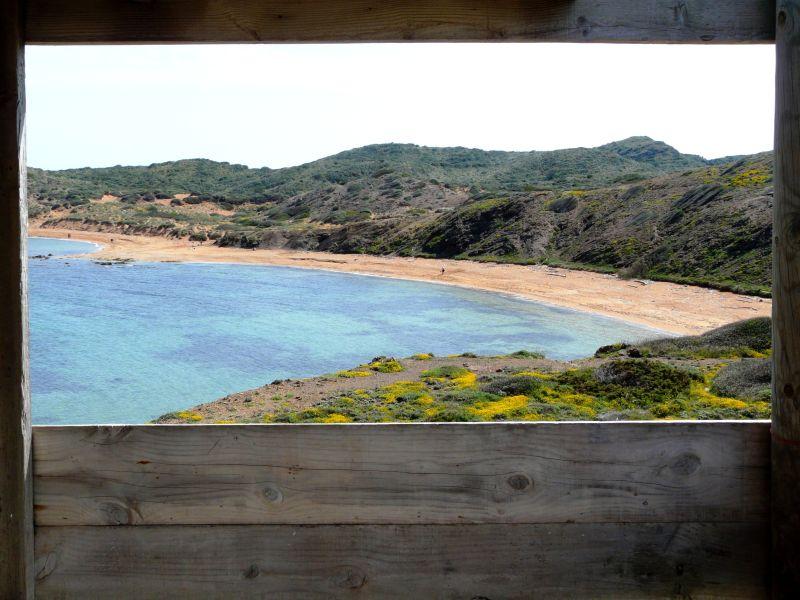 Playa de cavalleria en Menorca, en costa norte