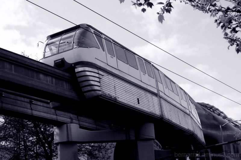 Seattle Center Monorail outside the EMP