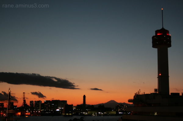 The last 2008 sunset over Odaiba-Japan.