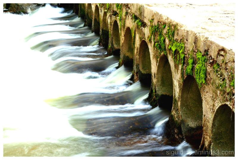 Flowing waters under the bridge