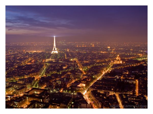 Paris by night, from top of Montparnasse Tower