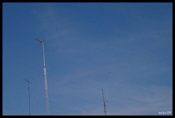 sky, antennas