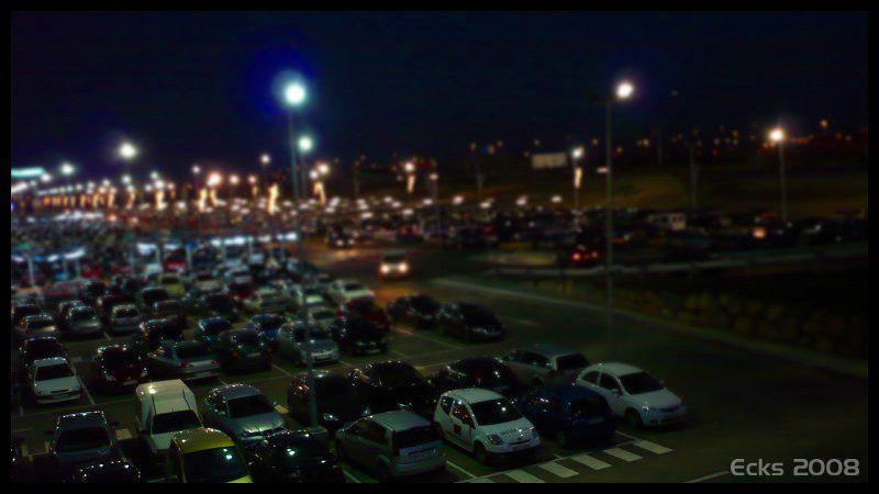 Plaza Imperial, Zaragoza, tilt&shift
