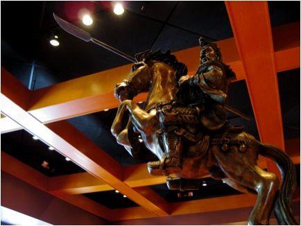 Statue in a restaurant