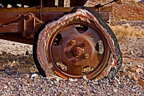 Old Truck Tire in Death Valley