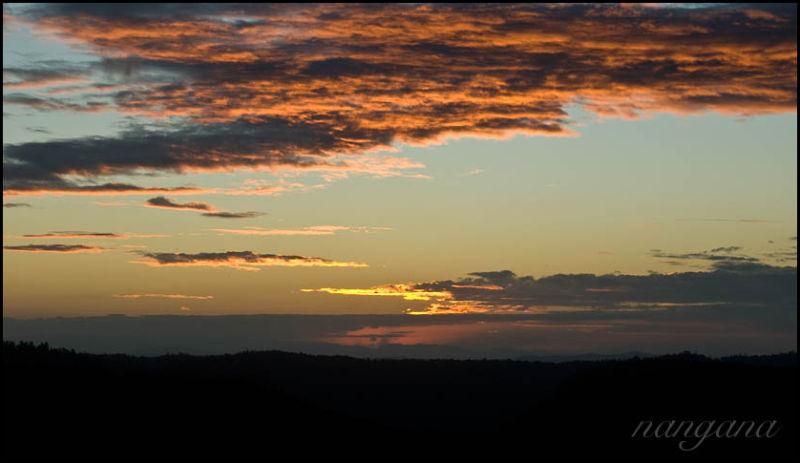 binna burra sunset sky