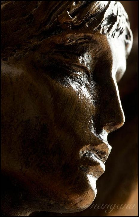 statue rodin face