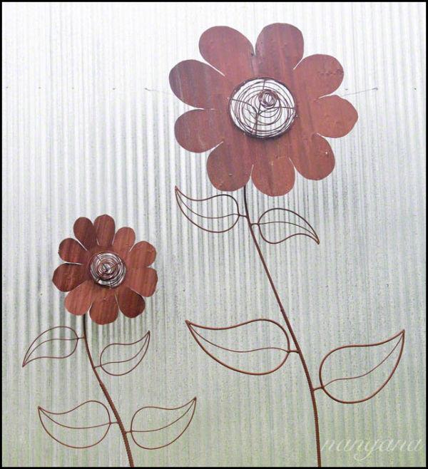 metal flowers on metal