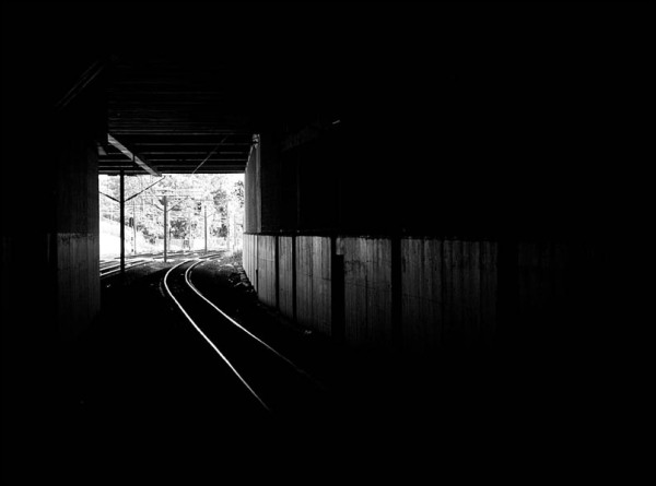 tunnel and rails