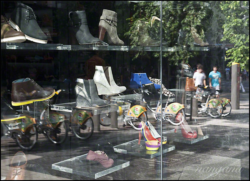 shoes and bicycles