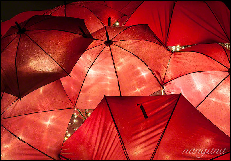 red umbrellas vivid sydney