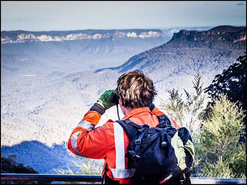 SES volunteer looking for a missing person