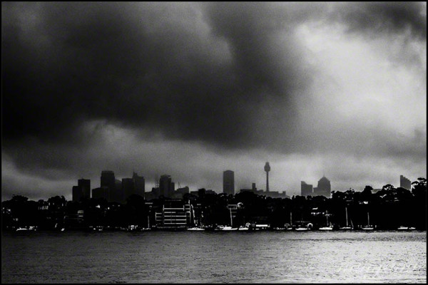 storm clouds over Sydney