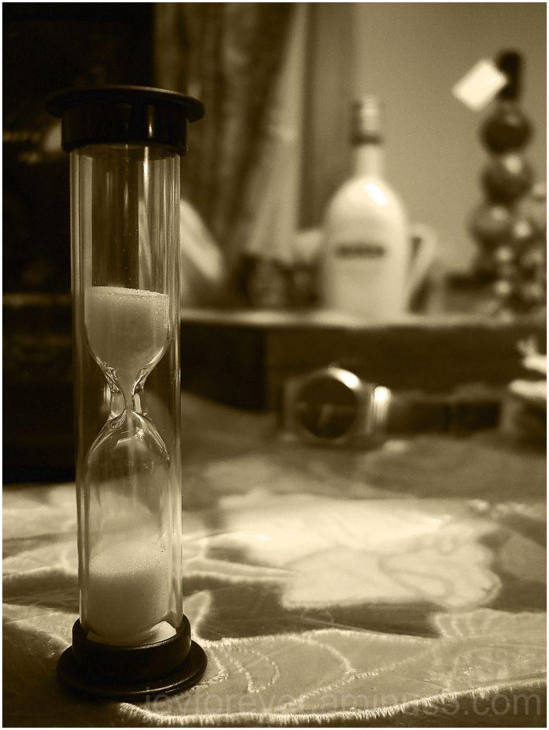 hourglass time watch clock still life macro