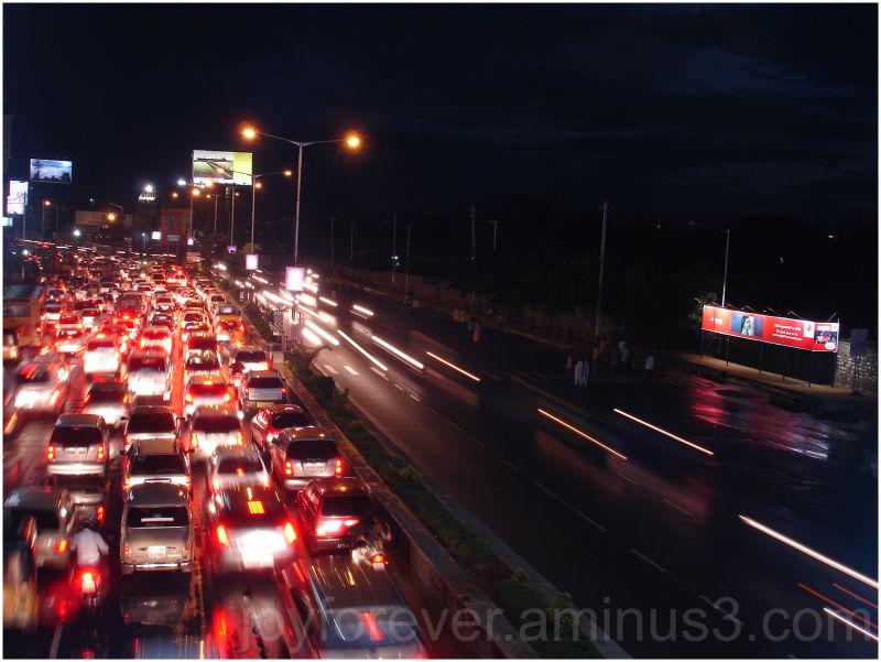 trafficjam street cars Hyderabad