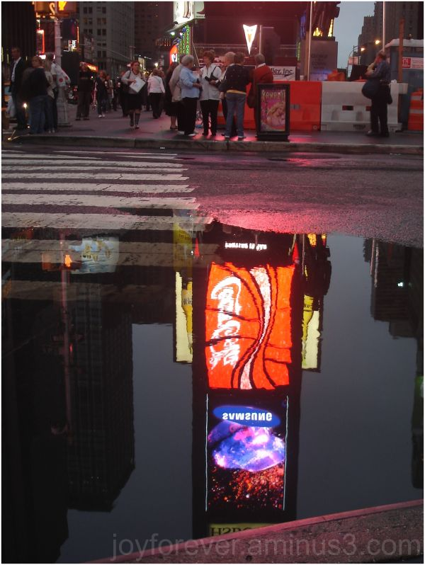 Puddle at times square