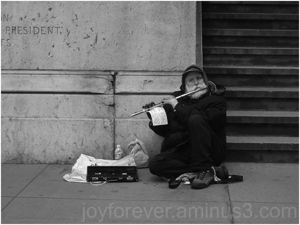 street musician flute old man new york city