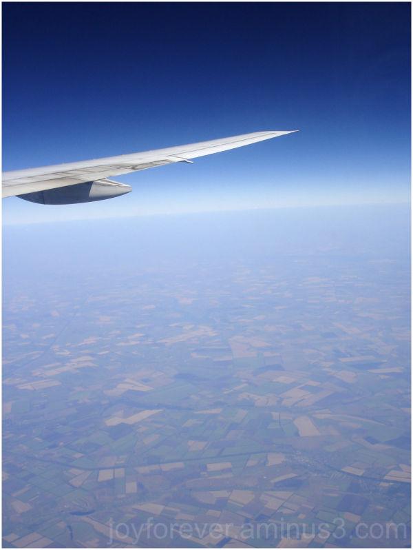 aeroplane sky aerial blue