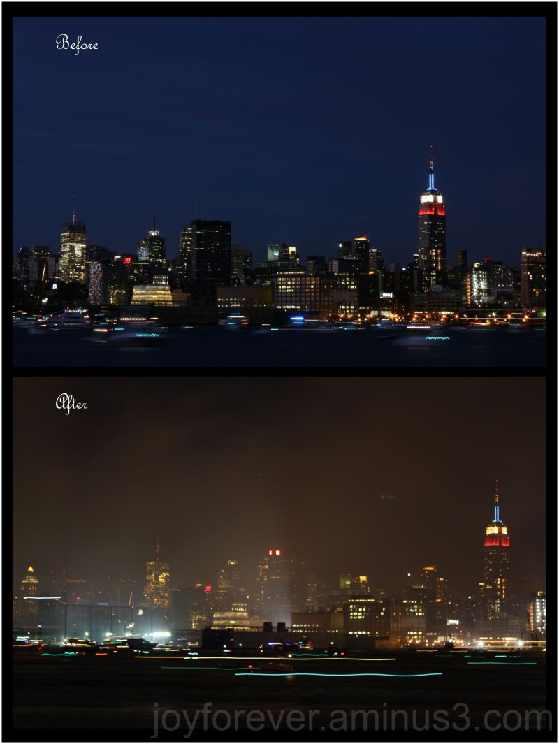 Independence celebrations new york skyline smoke