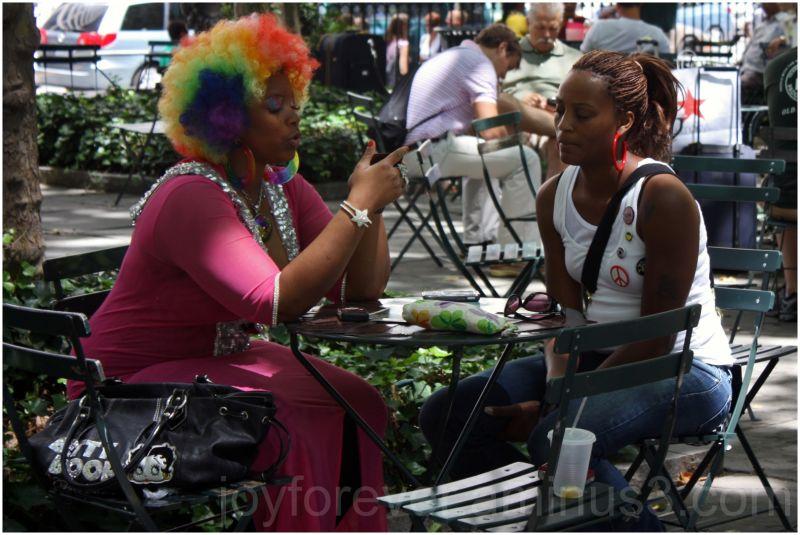 color fortune teller woman
