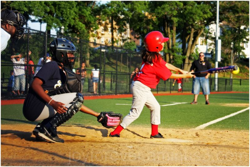 baseball girl child kid sport