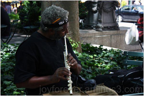 music musician flute new york bryant park