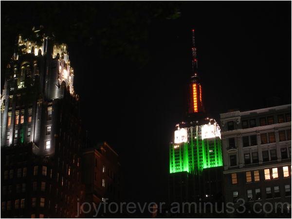 India tricolour empire state building new york