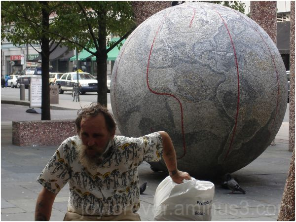 atlas philadelphia street earth globe man