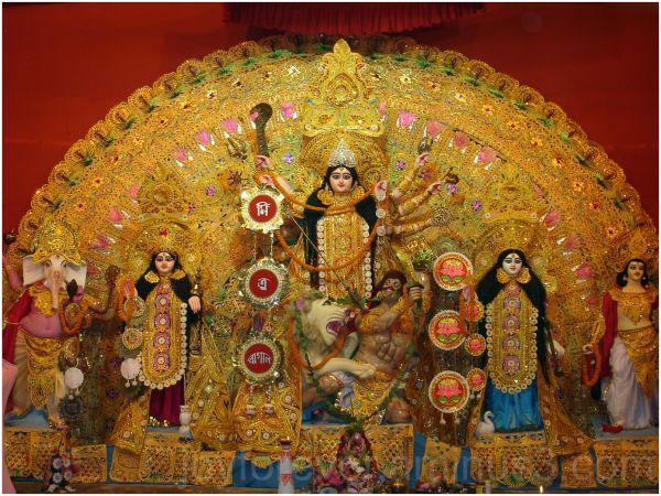 goddess durga idol festival hindu Hooghly india